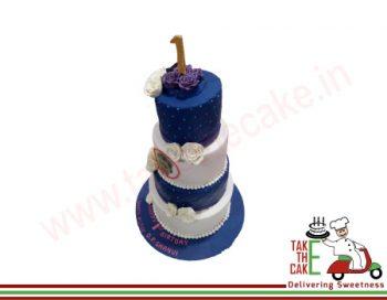 Purple Tower Cake